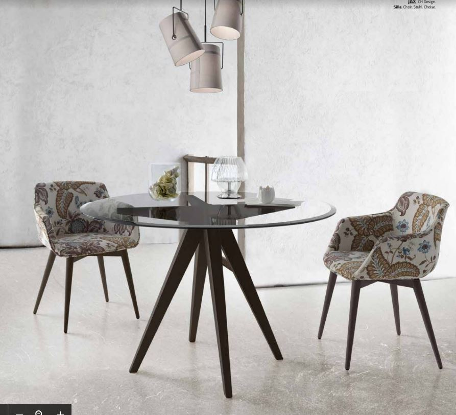 Modern Table with Wooden base August