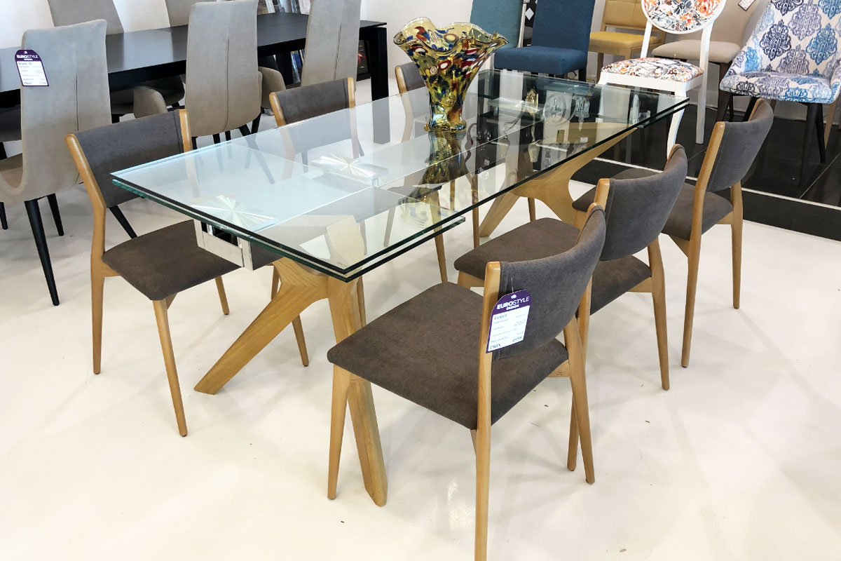 Lin Contemporary Extendable Dining Table 180