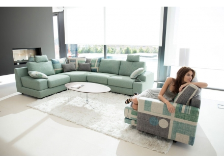 Euro Style Furniture Montreal Sectional Sofa Calisto