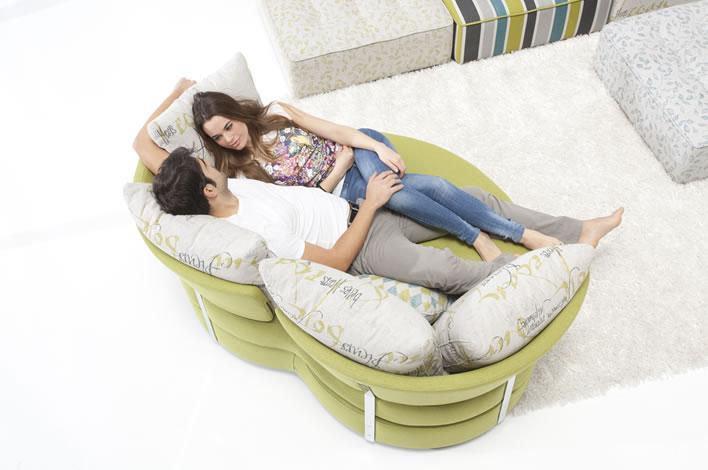 Modern european furniture loveseat