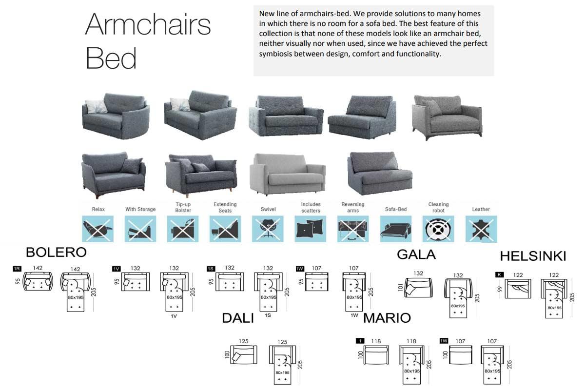 Modern Sofa Bed custom fabrics
