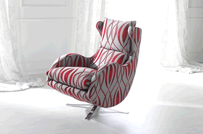 Custom Fabric recliner Montreal