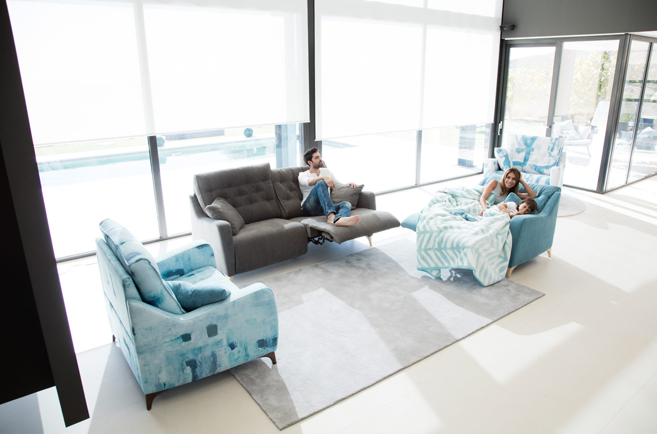 Modern reclining sofa avalon