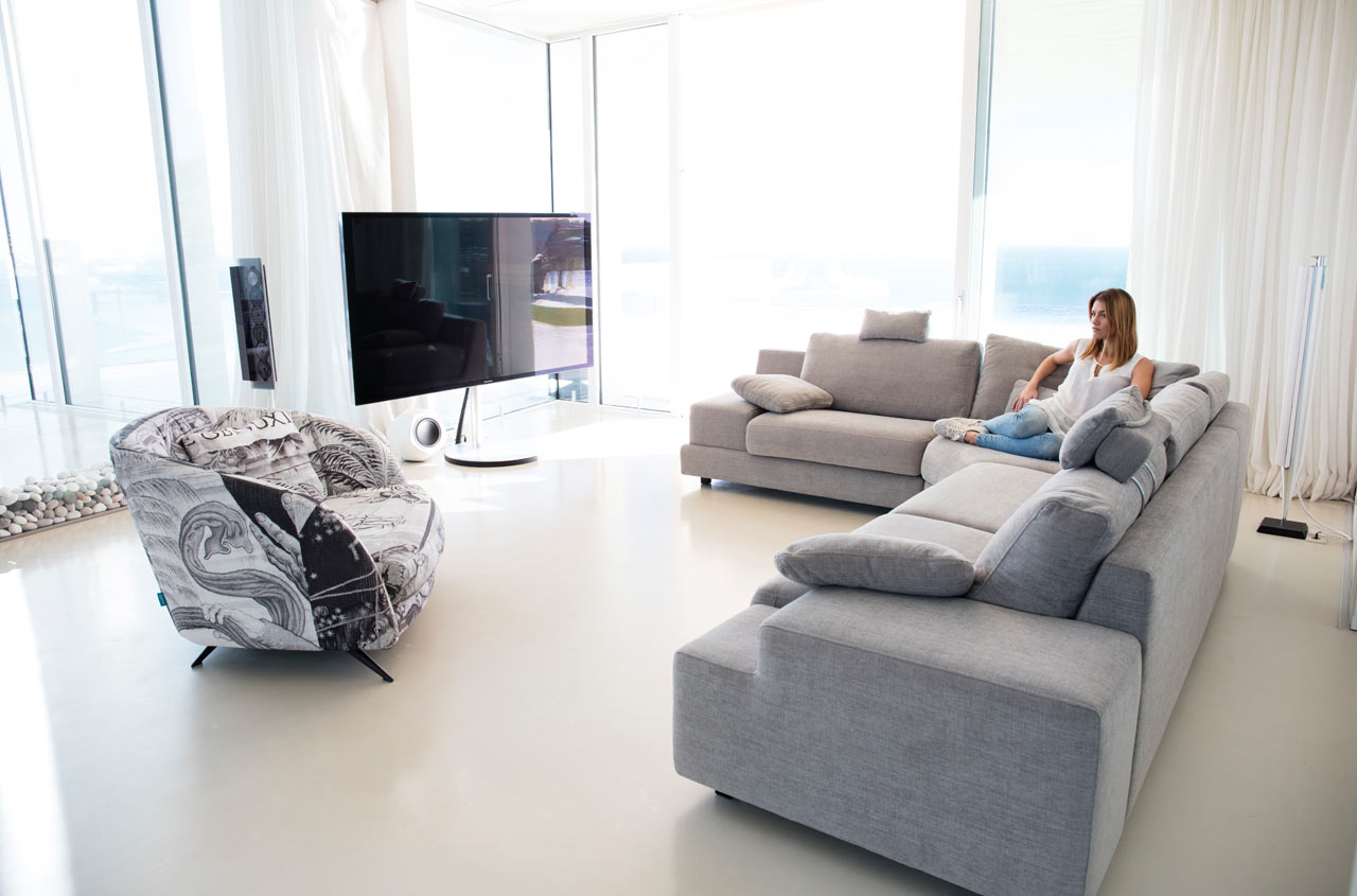 modern sectional sofa Calessi