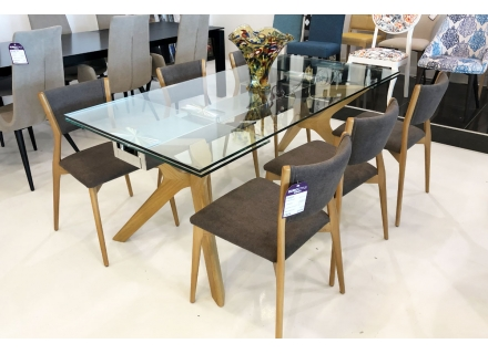 Table a diner Extensible Contemporaine Lin 180